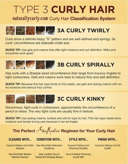 (3C/4A) Curly Hair Classification System. Having more than one picture for each hair type helps.