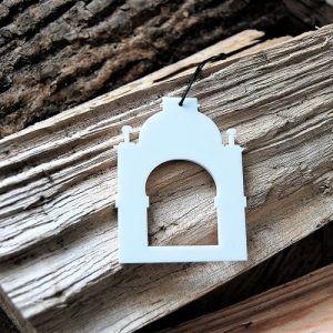 tivoli-indgang-copenhagen-hvid-cities-ryborg-urban-design-ornament-ophæng-jul-bolig-indretning-denmark-dekoration-souvenir-akryl-dab-boern-gave-bornevarelse-moderne-nordisk-historie-kultur-eventyr