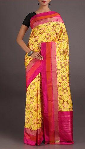 Lalitha New Rangoli Patterned Pure Pochampally Silk Saree