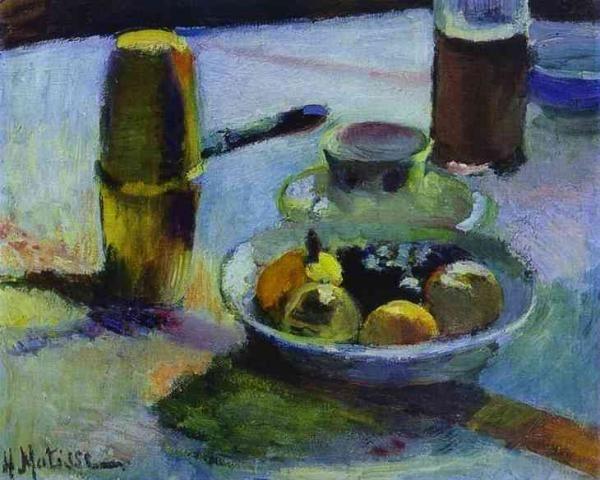 Анри Матисс - Фрукты и кофейник, 1899