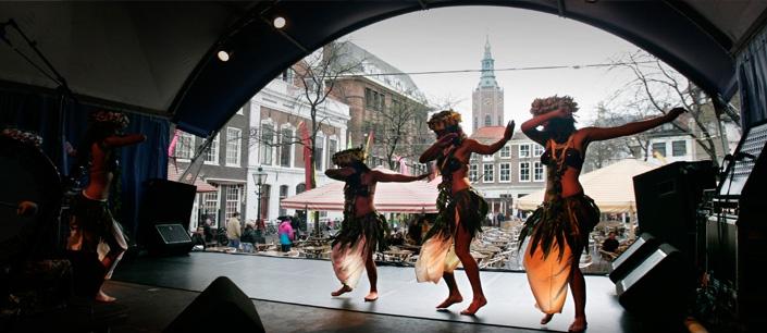 Polynesische dansgroep Mai'ana (foto: Frank Jansen)