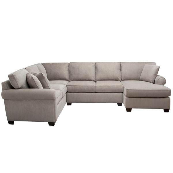 Art van marisol iii 3 piece grey sectional sofa set home for Sectional sofa art van