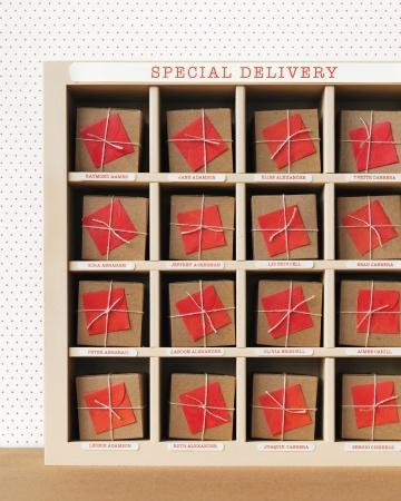 Clever Escort Card DisplayFavors Display, Small Wedding, Escortcard, Clever Escort, Marthastewartweddings Com, Gift Wraps, Parties Ideas, Planners Cards, Escort Cards Display