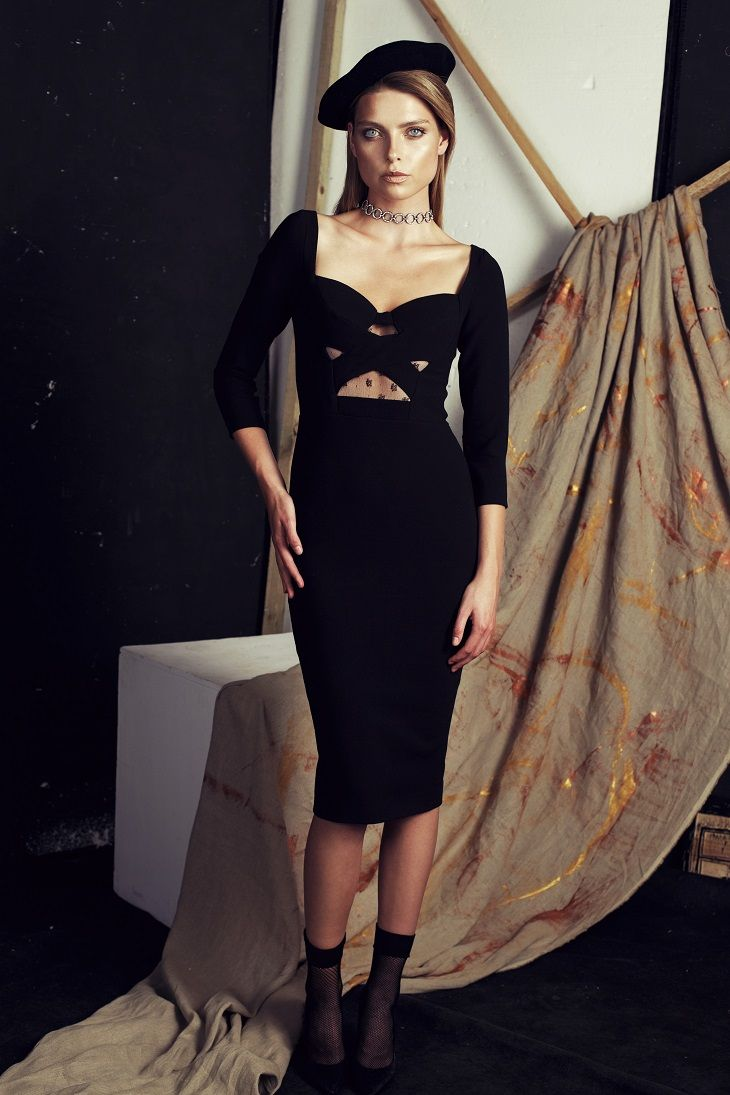 Papillon AW 2016/2017 Black evening dress #papillonatelier #musthave #glam #fashiondress