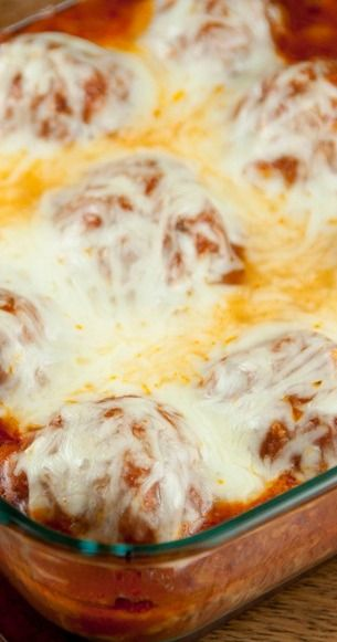 Baked Meatball Parmesan | Wishes and Dishes