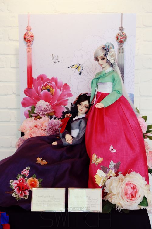 AGASHI THEMAIDEN PURPLE AND PINK HANBOK SWITCH