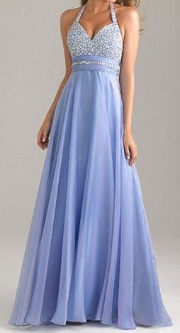 cool Halter Backless Lavender Long Chiffon Prom Dresses,High Low Sparkly Prom Gowns,P...