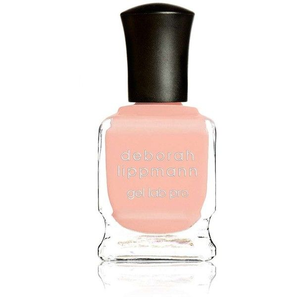 Deborah Lippmann Women's Peaches & Cream Nail Polish ($14) ❤ liked on Polyvore featuring beauty products, nail care, nail polish, fillers, accessories, beauty, makeup, peach, deborah lippmann nail polish and deborah lippmann