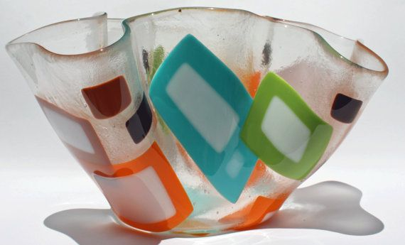 fused glass vase or bowl...love this!