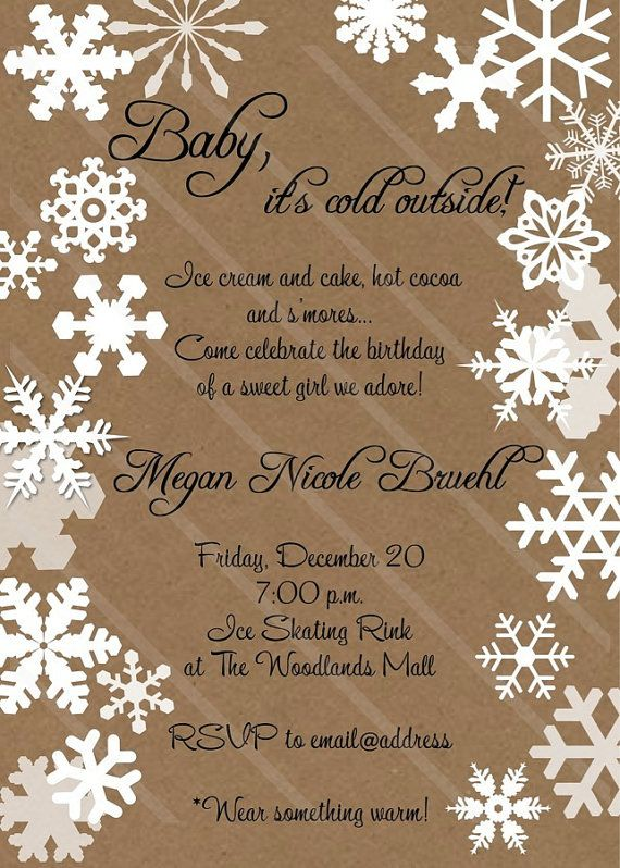 23 best images about baby it's cold outside baby shower on pinterest,