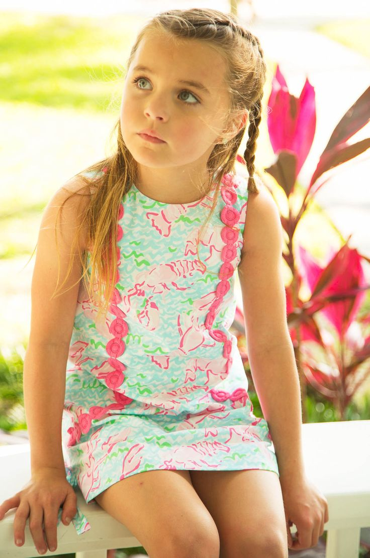 Lilly Pulitzer Little Lilly Classic Shift Dress in Lobstah Roll