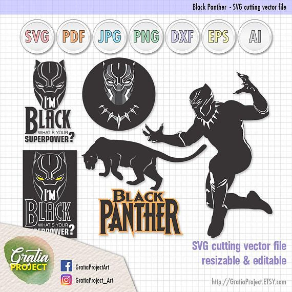 Black Panther set2  What's your superpower  SVG