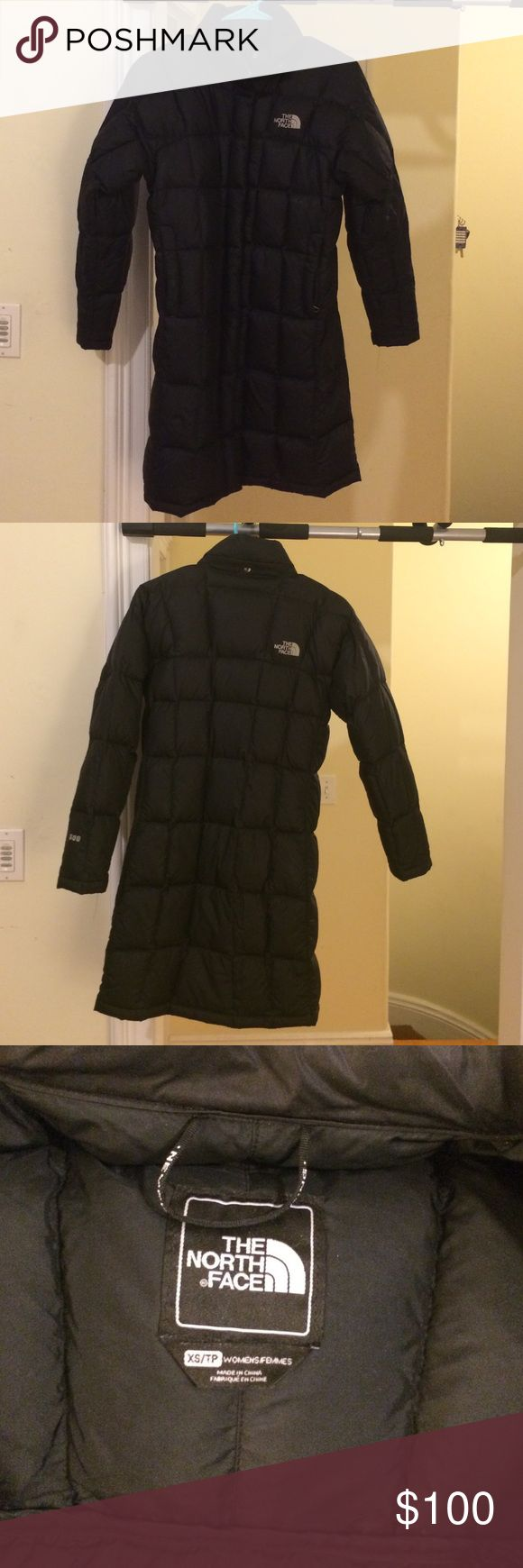 The North Face Women's Black Winter Jacket - XS Knee length, down feather, black North Face winter jacket.  This is in good condition with minimal wear and tear. Extremely warm and light. The North Face Jackets & Coats Puffers