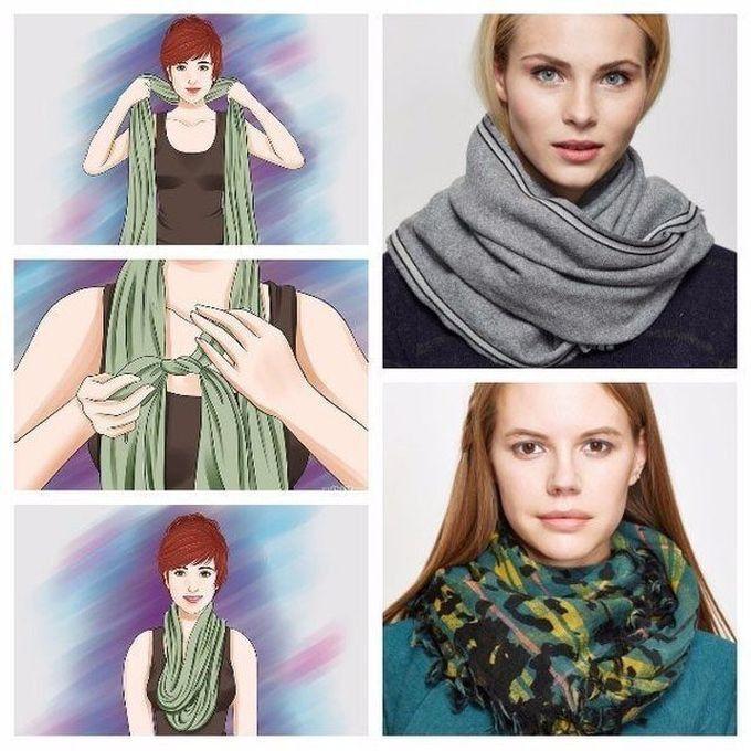 25 оригинальных способов завязать шарф. Живи стильно!