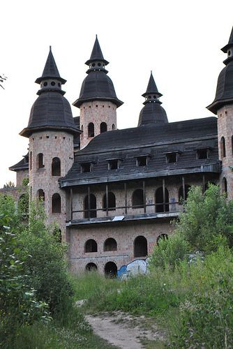 """""""Castle"""" in Łapalice, Poland, owners are still trying to cut through red tape to continue construction which started in 1980's"""