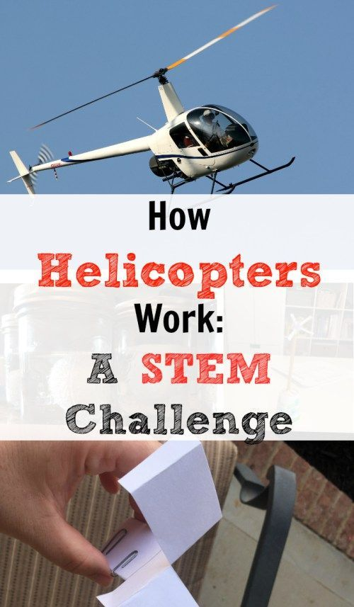 How Helicopters Work. A lesson and experiment for kids at home or in the classroom.