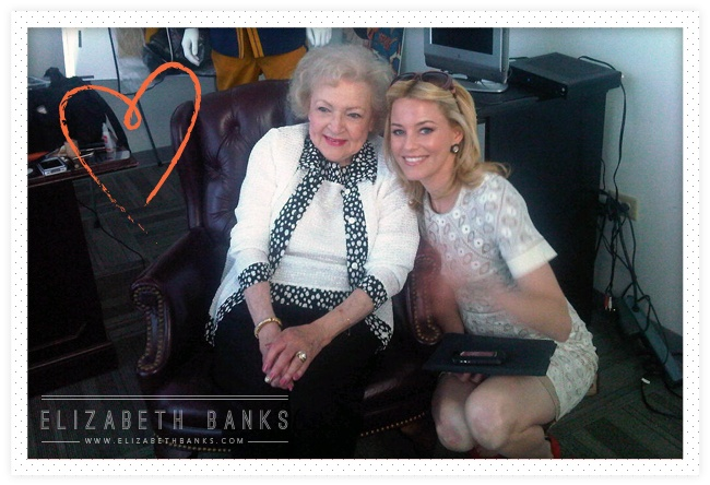 Who wouldn't love to meet The Betty White!!!  Read Elizabeth's account @ ElizabethBanks.com