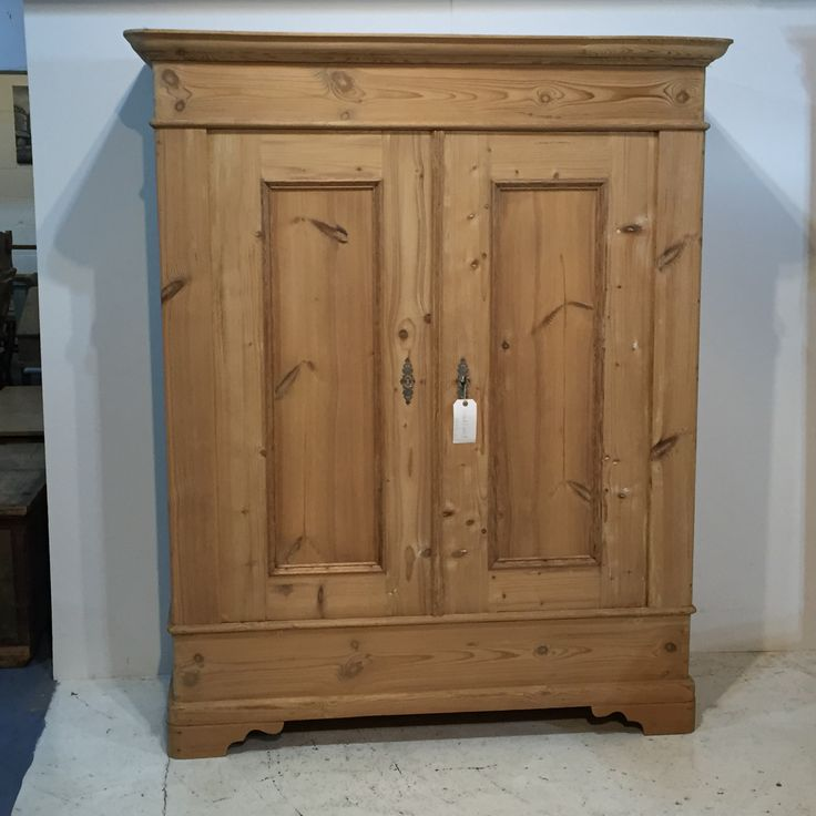 Mid 1800's Old Pine French Wardrobe (T7305E)