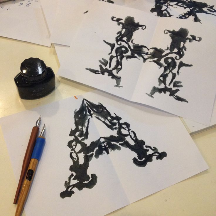 wasted ink, failed experiment on calligraphy by natasha dian #calligraphy #handtype #typography #letter