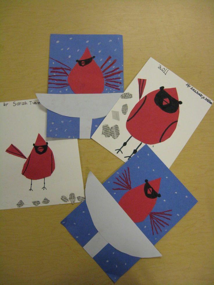 The Elementary Art Room!: Charley Harper Cardinals