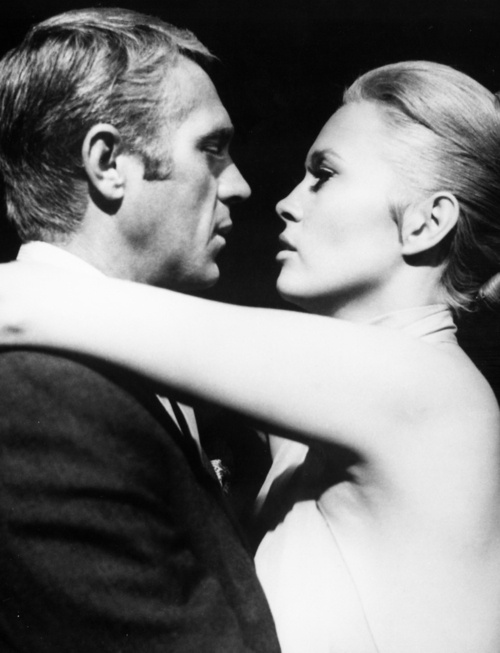 """What is a kiss? Why this, as some approve: the sure, sweet cement, glue, and lime of love."" ~ Robert Herrick [Credit - Steve McQueen, Faye Dunaway, The Thomas Crown Affair directed by Norman Jewison, 1968]"