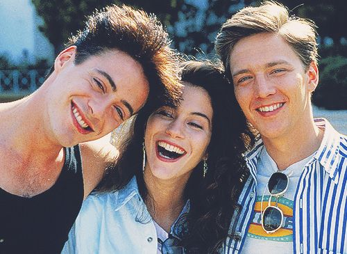 Robert Downey Jr. ,Jami Gertz and Andrew McCarthy. Less Than Zero.