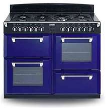 Blue stove is awsome additaion to an apartment makes the color pop! So you can have a cool kitchen!!!!!