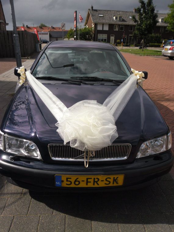45 best car decorations images on pinterest wedding car wedding car decoration organza ribbons bow by weddingholland junglespirit Gallery