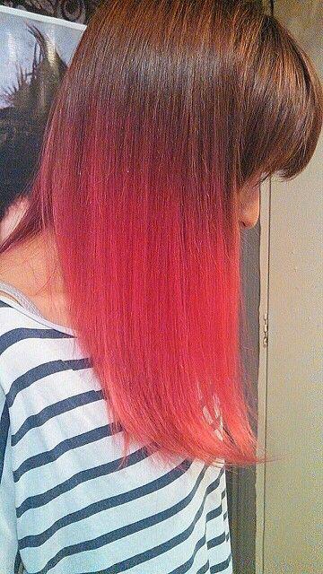 Dip dye hair strawberry