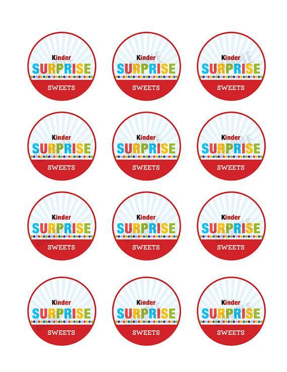Kinder Surprise Invitation DIY Digital Download