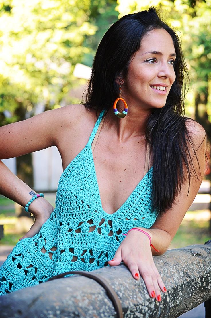 musculosa tejida en crochet verano 2013