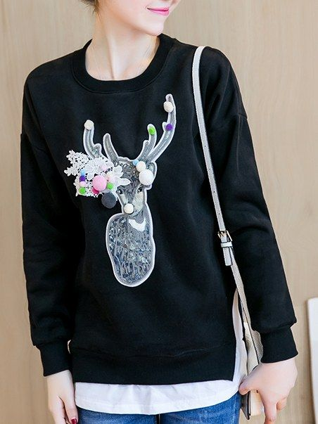 Loosen Pullover Cute Slim Hooded _Hoodies_Outerwear_WHOLESALE CLOTHING_Wholesale clothing, Wholesale Clothes Online From China