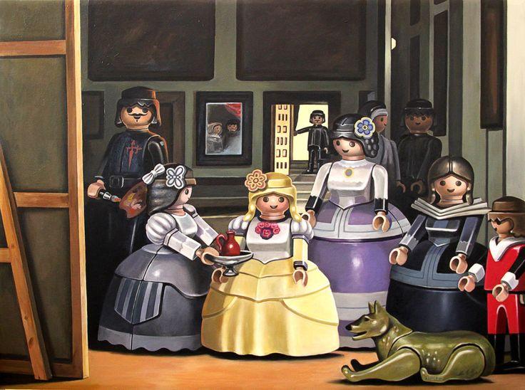 #lasmeninas de #Velazquez versión #playmobil. descubre todas las obras de arte de Sollier en nuestro blog
