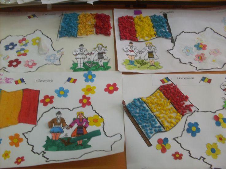 Modele de PLANSE pentru 1 Decembrie, Ziua Romaniei | Fise de lucru - gradinita