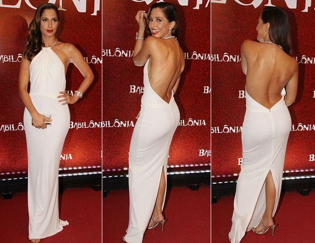 Vestido longo frente única de Camila Pitanga – Dicas