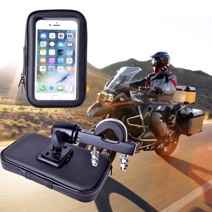 Motorcycle Phone Holder Mount Phone Stand Support for iPhone7 5S 6 Plus GPS Bike Holder with Waterproof Bag soporte movil moto #Affiliate