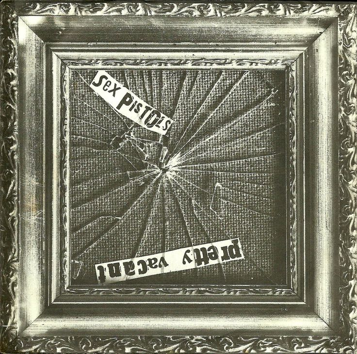 """Sex Pistols Pretty Vacant 7"""" record cover, 1977."""