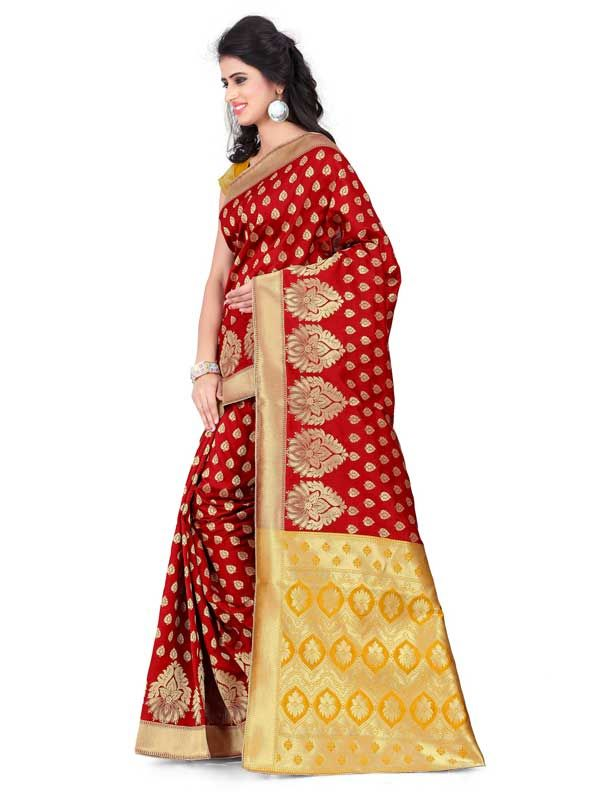 b8141d3a7 Stylish Blue Soft silk Saree with Blouse Piece-rachna silk saree - shop now