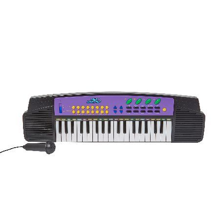 Hey Music 37 Key Electronic Keyboard Master the art of music with this 37 Key Electronic Keyboard from Hey Music. The Hey Music collection includes an assortment of popular instruments given a super child-friendly make-over without losin http://www.MightGet.com/may-2017-1/hey-music-37-key-electronic-keyboard.asp