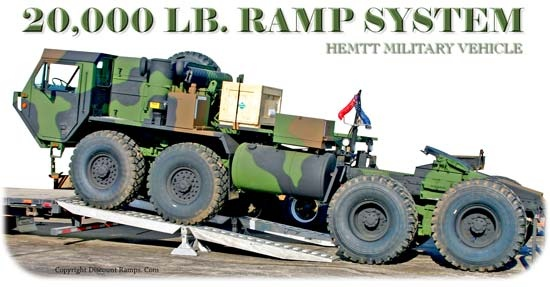 Step Deck Trailer Ramps - modular ramps for loading military vehicles, tractors, trucks, heavy machinery...