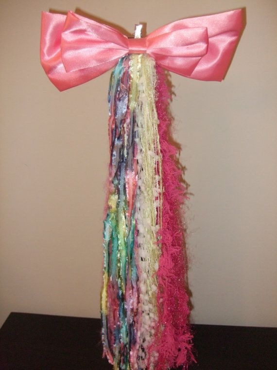Enchanting Unicorn Tail w/ Giant Satin Bow in by kellysavard, $15.95