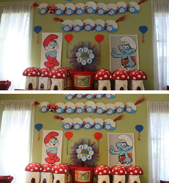 Smurf Birthday by Behar Party Designs