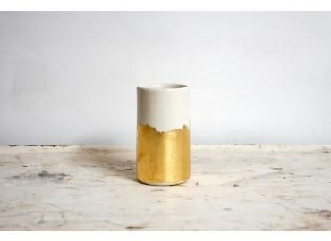 gold brushstrokes vessel vase . the object enthusiast ++ via BRIKA