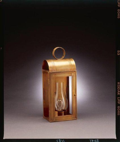 Culvert Top Wall Antique Brass 2 Candelabra Sockets Clear Glass by Northeast Lantern. $283.50