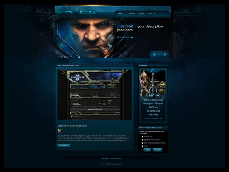 Gamers Blog Joomla Template by ~karsten on deviantART