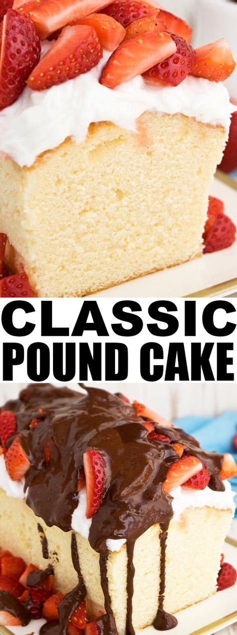 This classic SOUR CREAM POUND CAKE recipe from scratch is firm and dense but still very moist. Perfect for carving in cake decorating or just serving with whipped cream and fresh fruits! From cakewhiz.com