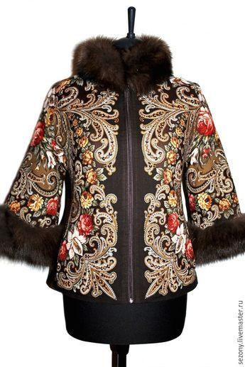 Купить Куртка из павловопосадского платка - павловопосадский платок, изделия из платка, русская традиция, русский стиль