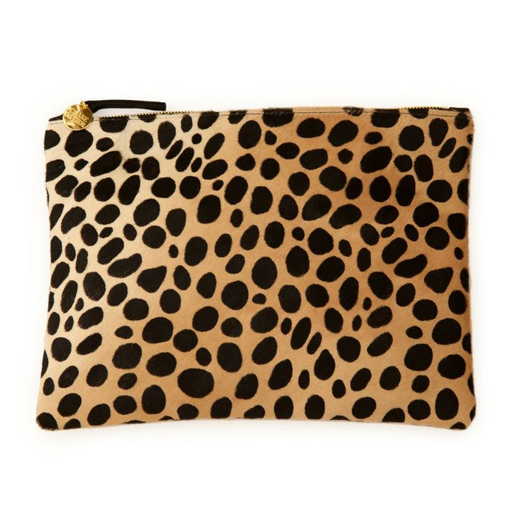 Cute Leopard Flat Clutch by Clare Vivier