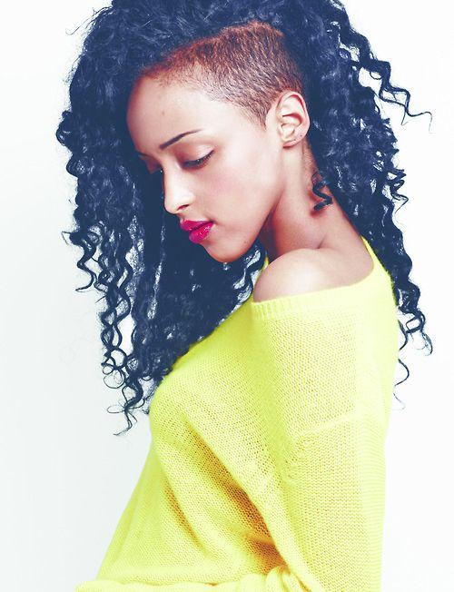 Cool curly sidecut :)  Loveeeeeeee it!