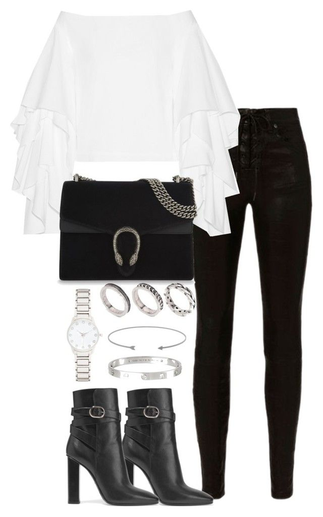 """""""Untitled #3397"""" by theeuropeancloset on Polyvore featuring rag & bone, Rosie Assoulin, Emilio Pucci, Gucci, ASOS, Forever New and Cartier"""